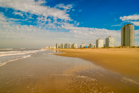 Panoramic view of a sandy beach in Punta del Este