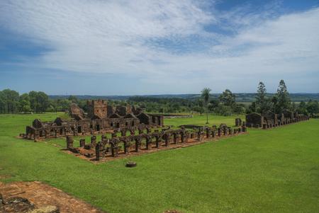 jesuit: Scenic Encarnacion and jesuit ruins in Paraguay, south America