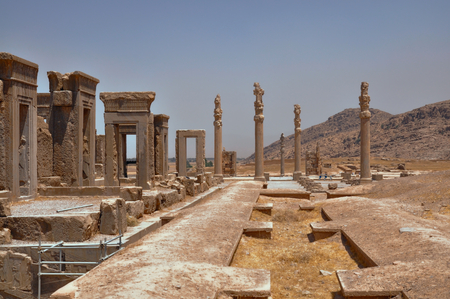 fars: Ruins of palace in persian capital Persepolis in current Iran