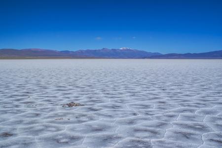 salina: Picturesque view of salt planes Salina Grandes in Argentina