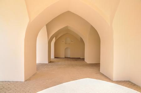 passageway: Architecture of bright old passageway in Merv, Turkmenistan in Asia
