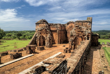 Historical site of Encarnacion and jesuit ruins in Paraguay, south America