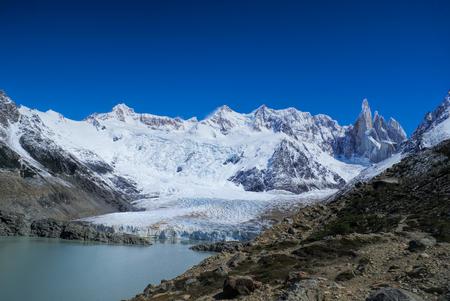los glaciares: Panoramic view of glacier in Los Glaciares National Park Stock Photo
