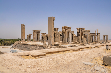 fars: Ruins of palace in persian capital Persepolis in current Iran