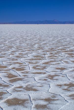 salina: Picturesque salt desert Salina Grandes in Argentina