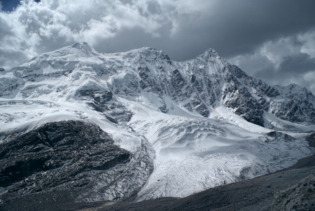 mountain range: Scenic mountains and glacier in south american Andes in Peru, Ausangate