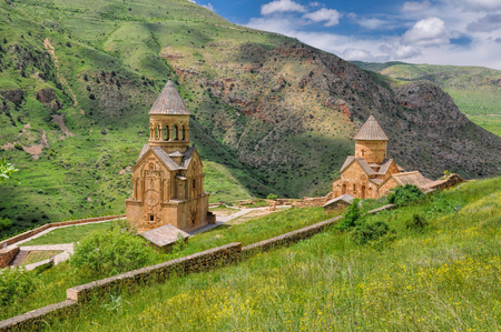 tourist destination: Scenic Novarank monastery in Armenia, famous tourist destination