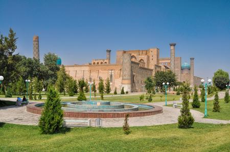 islamic scenery: Beautiful view of ancient Samarkand city in Turkmenistan