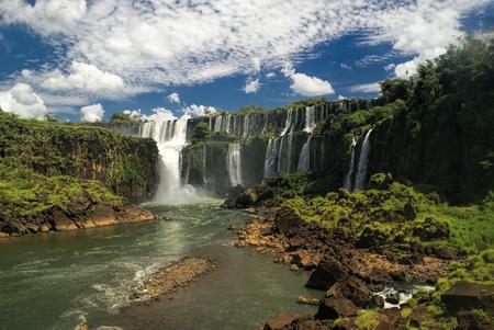 Idyllic view of Iguazu waterfalls in Argentina