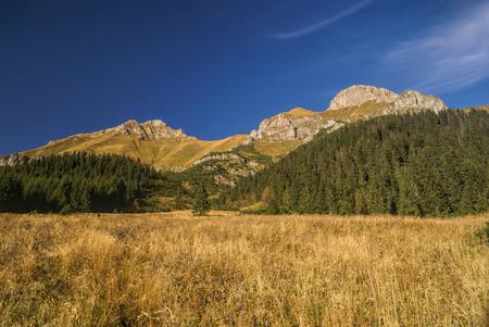 tatry: Scenic landscape of Belianske Tatry region in Slovakia on sunny autumn day
