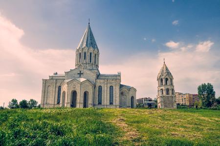 Beautiful christian church in mountainous Karabakh photo
