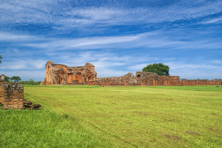 jesuit: Scenic site of Encarnacion and jesuit ruins in Paraguay, south America Stock Photo
