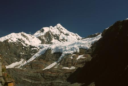 alpamayo: Majestic peak covered by snow in Peruvian Andes, Cordillera Blanca