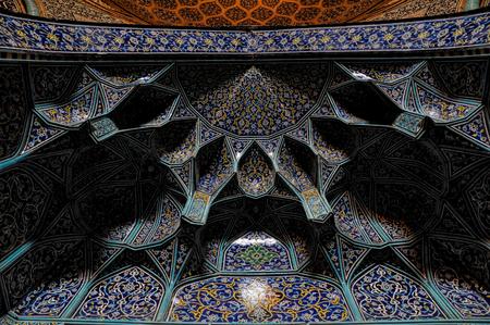 esfahan: Beautiful texture of ceiling of mosque in Esfahan, Iran