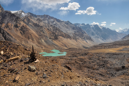 rocky mountain: Scenic rocky valley in Pamir mountains in Tajikistan