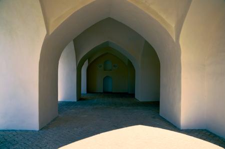 passageway: Architecture of old passageway in Merv, Turkmenistan in Asia