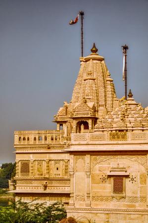 thar: Scenic view of temple in Thar Desert
