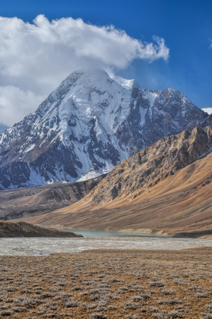 tajikistan: Scenic peak in Pamir mountains in Tajikistan