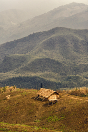 nagaland: Traditional tribal settlement in remote region of Nagaland, India