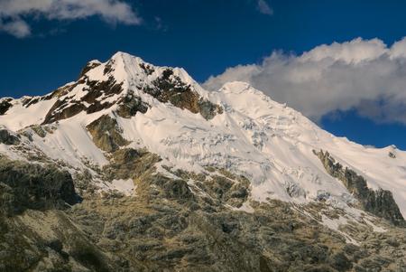nevado: Scenic mountain Huascaran in Andes, highest peak in Peru, South America