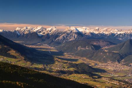 tirol: Scenic panorama of valley in Tirol Alps near Innsbruck