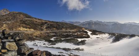 arunachal pradesh: Scenic view of sunny mountains in Arunachal Pradesh region, India