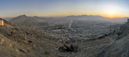 afghanistan: Scenic panorama of sunset in Kabul, Afghanistan