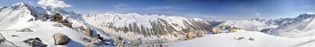 kackar: Scenic panorama of Kackar Mountains in Turkey Stock Photo
