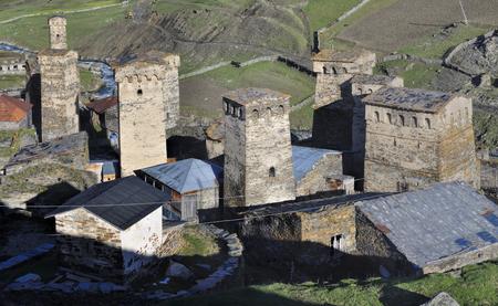 svaneti: Torres viejas tradicionales en Georgia, Svaneti, s�mbolo de la regi�n