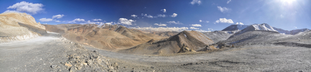 leading the way: Rocky road leading through the mountains on the way to Ladakh, India