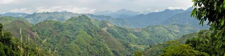 arunachal pradesh: Scenic panorama of green hills in Arunachal Pradesh, India