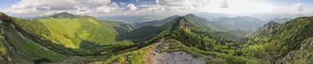mala fatra: Scenic panorama of Mala Fatra mountains in Slovakia