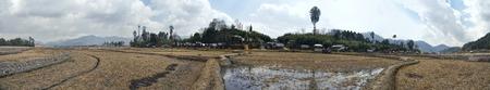 arunachal pradesh: scenic panorama of irrigated fields in Arunachal Pradesh, India Stock Photo