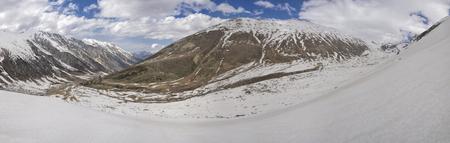 kackar: Scenic panorama of valley in Kackar Mountains in Turkey Stock Photo