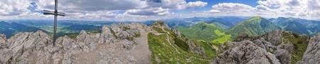 mala fatra: Scenic panorama from Rozsutec in Mala Fatra mountains, Slovakia