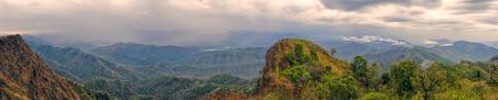 Scenic panorama of green valley in Mizoram, India Standard-Bild