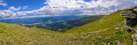 Picturesque view of Nizke Tatry mountains in Slovakia photo