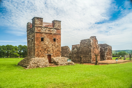 Photo of old Jesuit Missions in Encarnacion, capital city of Paraguayan department of Itapua.