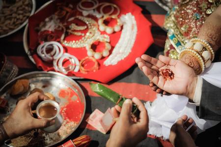 richness: Bikaner, Rajasthan - circa December 2011: Photo of richness of wedding in Bikaner, Rajasthan. Documentary editorial.