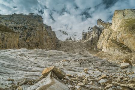 Baltoro glacier in Karakoram Mountain Range, Pakistan. Foto de archivo - 118052092