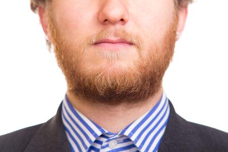 full red: Uomo con Full Red Beard Archivio Fotografico