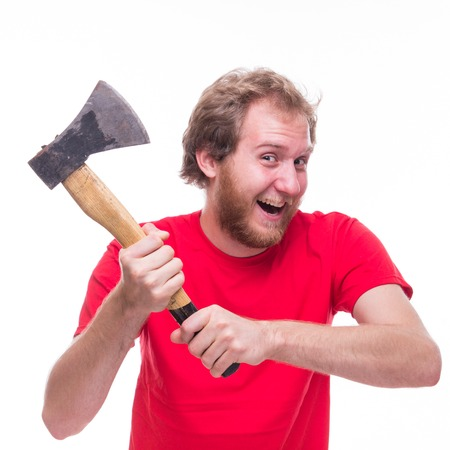 ax man: Mad man with an ax - studio shoot