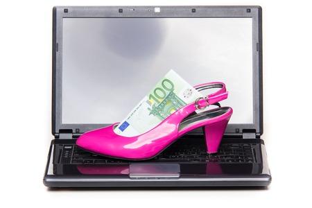 cinderella shoes: Womens online shopping - pink heel - studio shoot