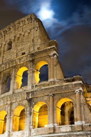 View of the Colosseum at night, Italy