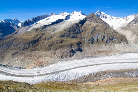 aletsch: Aletsch Glacier in the Swiss Alps - mountain view