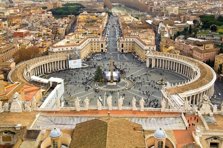 View of St. Peter's square in the vatican, Europe