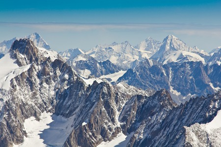 massif: Landscape of high alps in the Mont Blanc massif, France