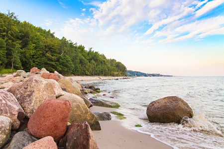 Coastal landscape of Baltic Sea - beautiful beach