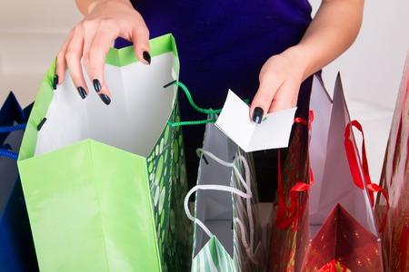 Gift Bags for Christmas - studio shoot - 35744209-gift-bags-for-christmas--studio-shoot