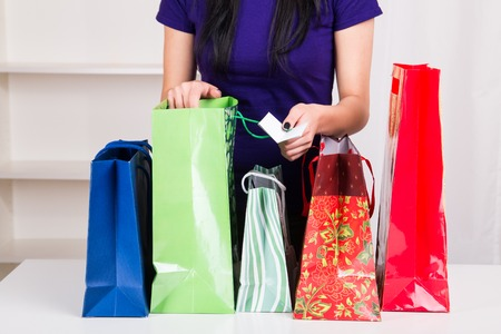 gift bags: Gift Bags for Christmas - studio shoot
